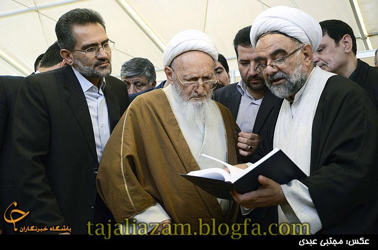 علامه حسن زاده آملی در نمایشگاه بین المللی کتاب تهران 1391